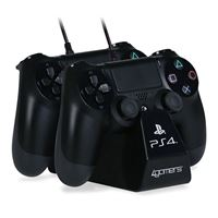 Twin Play & Charge - Preto - PS4