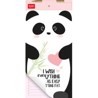 Bloco de Notas Magnético Panda