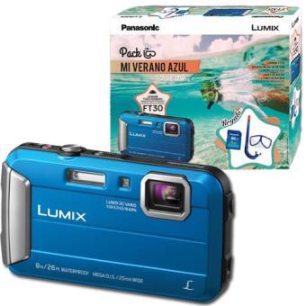 Panasonic Lumix DMC-FT30 Azul - Pack de Verão - Câmara de Aventura ... 1b38c5f4c2572