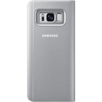 Capa Flip Samsung Clear View para Galaxy S8 - Prateado