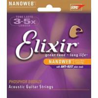 Cordas para Guitarra Acústica 12/53 - Elixir 16052