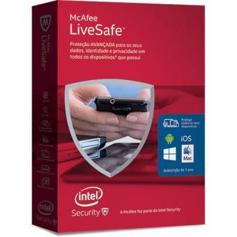 McAfee LiveSafe 2016 (Todos os Dispositivos | 1 Ano)