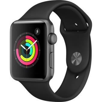 Apple Watch Series 3 42mm - Cinzento Sideral | Bracelete Desportiva - Preto