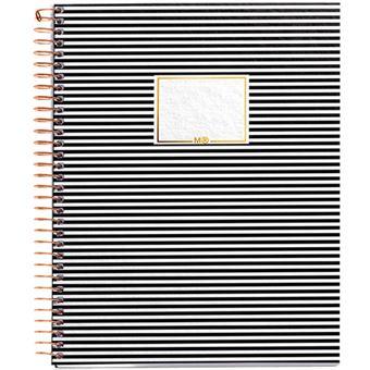 Caderno Quadriculado Black & White - Stripes A5