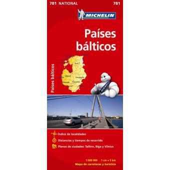 Paises Bálticos: Mapa Nacional 781