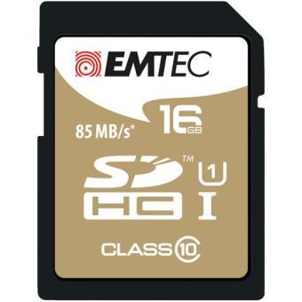 Emtec Cartão SDHC Classe 10 Gold+ 85MB/s - 16GB