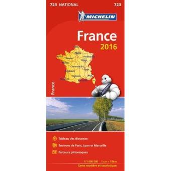 Mapa Michelin National 723 - França 2016