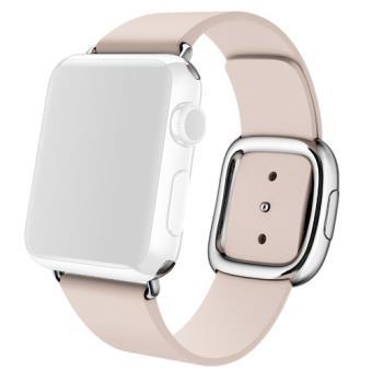 Bracelete Pele Apple para Watch 38mm - Large - Rosa Claro