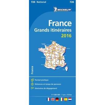 Mapa Michelin National Grandes Itinerários - França 2016