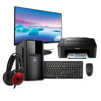 Pack Fnac Desktop Insys PowerNet + Monitor Philips + Teclado e Rato HP + Impressora Canon + Auscultadores Conceptronic
