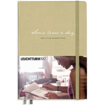 Caderno Pautado Leuchtturm Some Lines a Day - 5 Year Memory Book A5 Bege