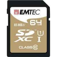 Emtec Cartão SDXC Classe 10 Gold+ 85MB/s - 64GB