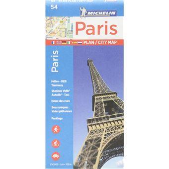 Plano Michelin Pleg 54 - França: Paris City Map