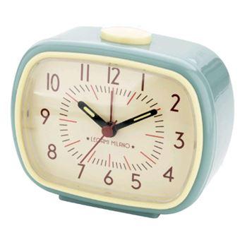 Relógio Despertador de Cabeceira Retro - Azul