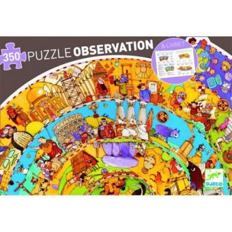 Puzzle História 350 Peças com Livro - Djeco