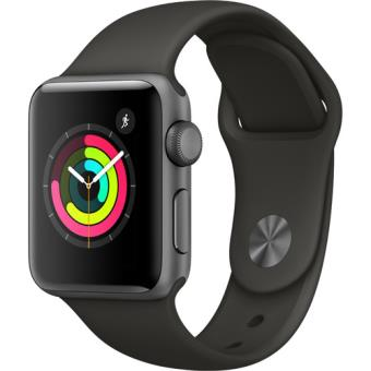 Apple Watch Series 3 38mm - Cinzento Sideral | Bracelete Desportiva - Cinzento