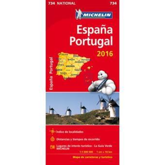 Espana Portugal Mapa Michelin 734 Varios Compra Livros Na