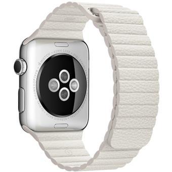 Bracelete Pele Apple para Watch 42mm - Medium - Branco