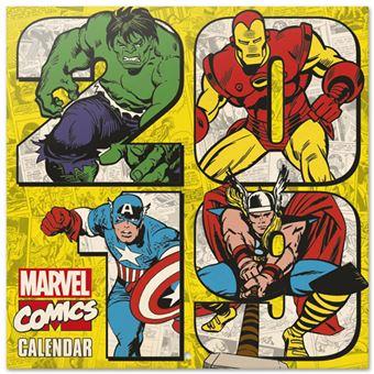 Calendário de Parede 2019 Marvel Comics