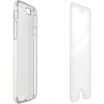 4-OK Capa + Pelicula Vidro Temperado para Samsung Galaxy S7 (Transparente)