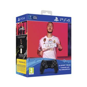Comando Sony DualShock 4 - Preto + FIFA20