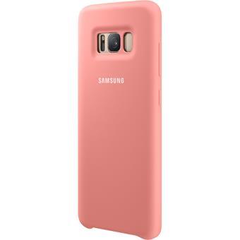 Capa Silicone Samsung para Galaxy S8 - Rosa