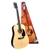 Pack Guitarra Acústica + Saco em Nylon Gemma Standard Nat