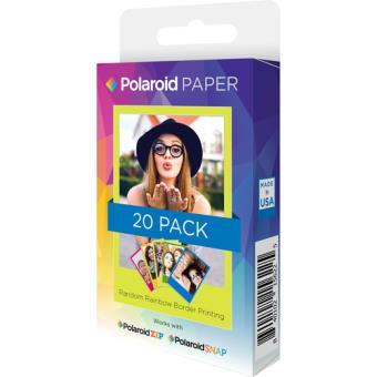 Polaroid Carga 2x3'' Premium ZINK Rainbow - 20 folhas