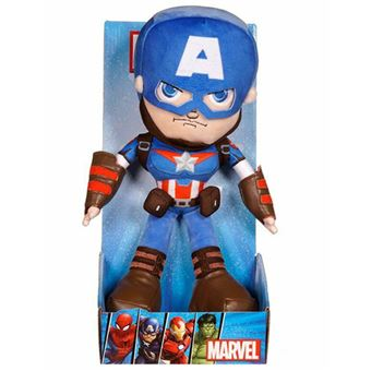 Peluche Marvel Action Captain America - 25 cm - Famosa
