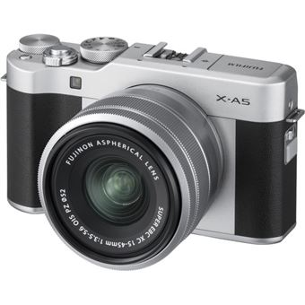 Fujifilm X-A5 + XC 15-45mm - Prateado