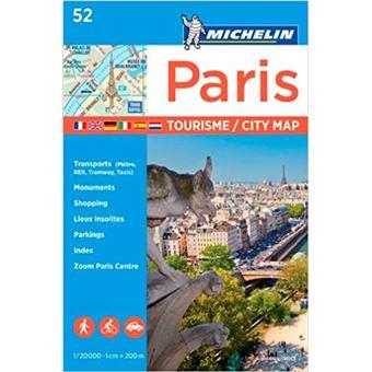 Plano Michelin Pleg Tourisme 52 - Paris City Map