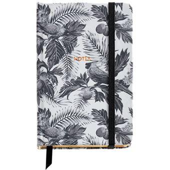 Caderno Liso Black & White - Tropical Bolso