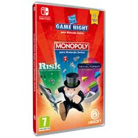 Game Night: Monopoly + Risk + Trivial Pursuit - Nintendo Switch