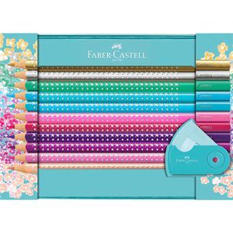Caixa de Lápis de Cor Faber Castell Metal Sparkle 20 Unidades