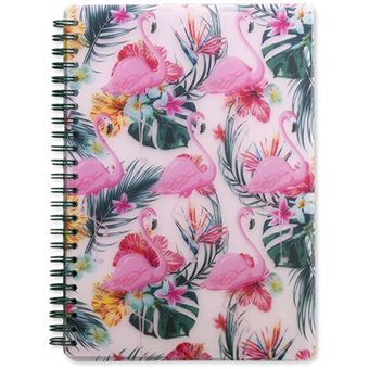 Notebook A5 Palm Springs Flamingo - Go Stationery