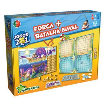 Jogos 2 em 1 - Forca + Batalha Naval