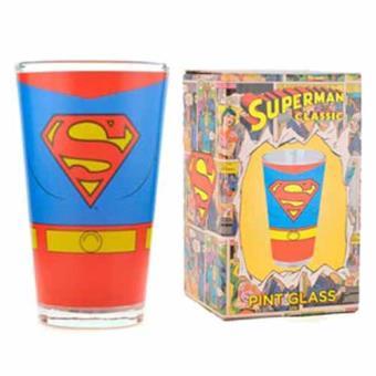 GLASS LARGE-SUPERMAN-COSTUME