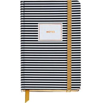 Caderno Liso Black & White - Stripes Bolso