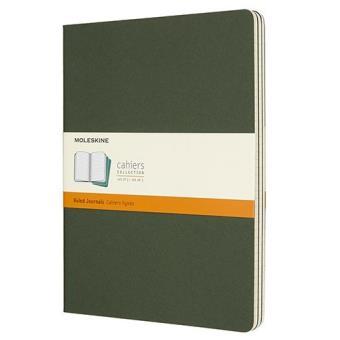 Cadernos Pautados Moleskine Cahier XL Verde - 3 Unidades