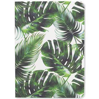 Caderno Pautado Tropical Leaf Bolso