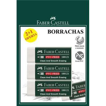 Borracha Faber Castell Branca - Pack  2 + 1 Oferta