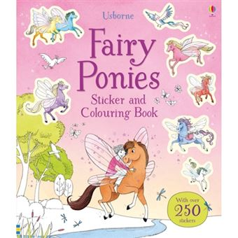 Fairy ponies sticker and colouring