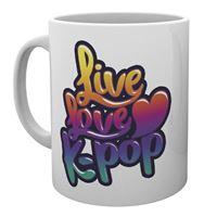 Caneca Live Love K-Pop