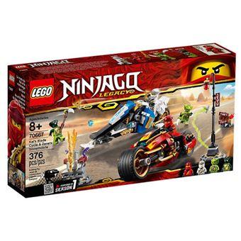 LEGO NINJAGO 70667 A Mota de Espadas do Kai e a Mota de Neve do Zane