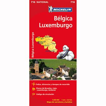 Mapa National Belgica, Luxemburgo