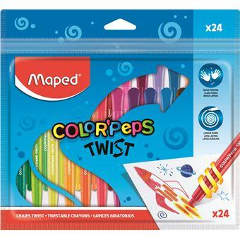 Lápis de Cera Color Peps Twist Rotativos - 24 Unidades