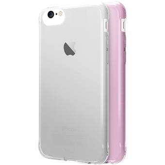 Capas It Skins Zero Gel 2 Pack para iPhone 6/6s/7/8 - Rosa / Transparente