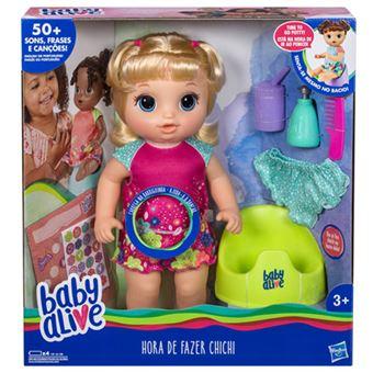 5db30d7908 Baby Alive Hora de Fazer Chichi Loira - Hasbro - Bonecas - Compra na ...