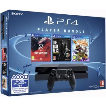 Sony PS4 500GB + DriveClub + LittleBigPlanet 3 + The Last of Us