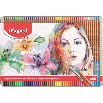 Lápis de Cor Aguarela Maped - 48 Unidades